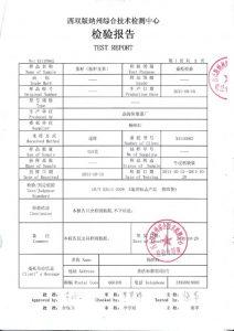 検査報告書2ページ